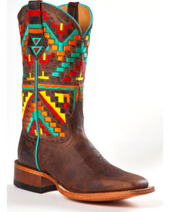 Johnny Ringo Women's Aztec Kaleidoscope Western Boots - Square Toe, , hi-res