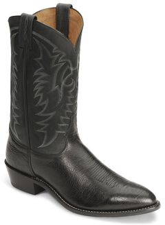 "Tony Lama 12"" Conquistador Shoulder Boot - Medium Toe, Black, hi-res"
