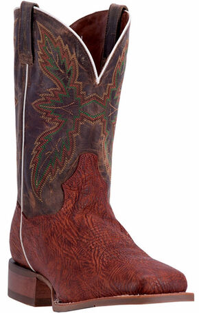 Dan Post Men's Cognac Clark Cowboy Boots - Broad Square Toe, Cognac, hi-res