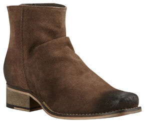Ariat Women's Brown Unbridled Sloan Suede Boots - Square Toe , Brown, hi-res