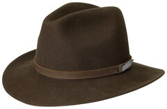 Black Creek Men's Brown Crushable Wool Hat, , hi-res