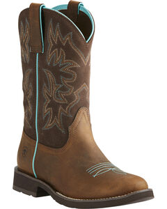 Ariat Women's Delilah Cowgirl Boots - Round Toe, , hi-res