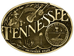 Montana Silversmiths Tennessee State Heritage Attitude Belt Buckle, , hi-res