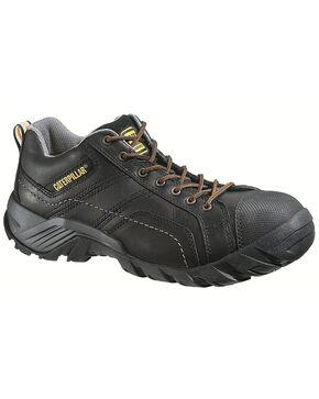 Caterpillar Argon Black Lace-Up Work Shoes - Composition Toe, Black, hi-res