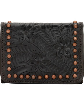 American West Zuni Passage Small Crossbody Bag/Wallet, Black, hi-res