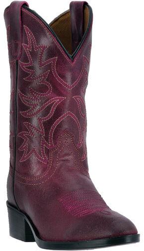 Dan Post Girls' Fuchsia Carter Cowgirl Boots - Round Toe, Fuchsia, hi-res