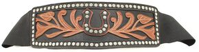 Ariat Horseshoe Studs Wide Belt, Black, hi-res
