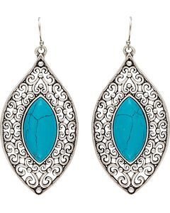 Wrangler Rock 47 Knotted Lace Blue Marquis Earrings, , hi-res