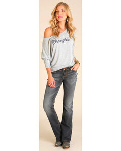 Wrangler Women's Off the Shoulder Logo Top , , hi-res