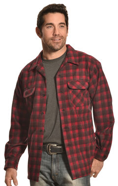 Pendleton Men's Dark Red Wool Plaid Board Shirt , , hi-res