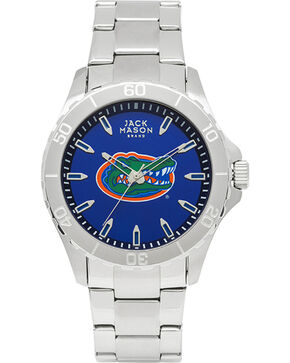 Jack Mason Men's Florida Gators Team Color Dial Watch , Silver, hi-res
