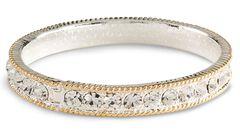 Montana Silversmiths Cubic Zirconia Bangle Bracelet, , hi-res
