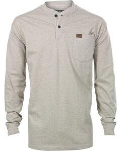 Wrangler Men's Riggs Workwear Oatmeal Long Sleeve Henley Shirt - Big, , hi-res