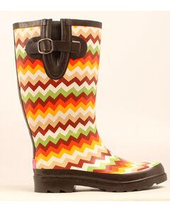 Blazin Roxx Leanne Chevron Rain Boots - Round Toe, , hi-res