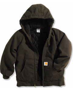 Carhartt Boys' Active Quilted Flannel Jacket , , hi-res