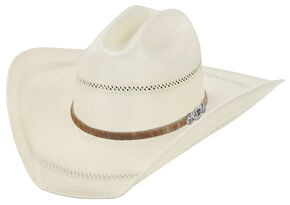 Justin 50X Cattle Ranch Straw Cowboy Hat, Natural, hi-res