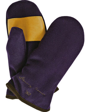 Stormy Kromer Women's Purple Ida's Mittens, Purple, hi-res