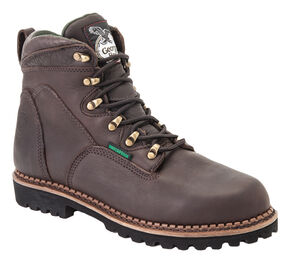 Georgia Renegades Waterproof Work Boots - Steel Toe, Chocolate, hi-res
