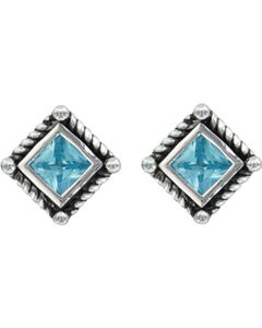 Montana Silversmiths Roped Blue Starlight Earrings, , hi-res
