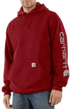 Carhartt Men's Midweight Logo Sleeve Hooded Sweatshirt, , hi-res
