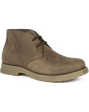 Roper Men's Lace Up Chukka Western Shoes , Brown, hi-res