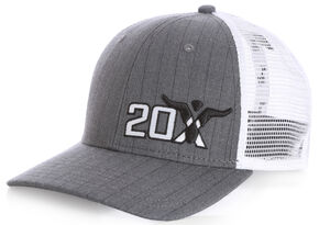 Wrangler Men's 20X Herringbone Mesh Back Cap, White, hi-res