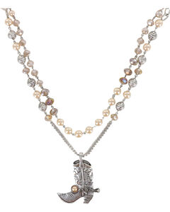 Shyanne Women's Layered Beaded Boot Necklace , , hi-res