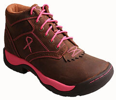 Twisted X Women's Tough Enough to Wear Pink Kiltie Hiking Boots, , hi-res