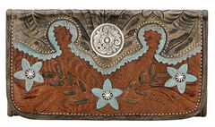 AW Desert Wildflower Tri-Fold Wallet, , hi-res