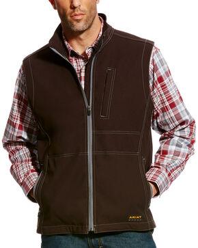 Ariat Men's Rebar Canvas Softshell Vest - Big, Black, hi-res