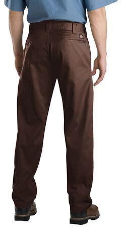 Dickies Slim Straight Work Pants, Brown, hi-res