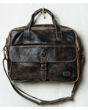 Bed Stu Men's Black Lux Nigel Briefcase , Black, hi-res