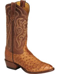 Tony Lama Men's Vintage Full Quill Ostrich Boots - Medium Toe, , hi-res