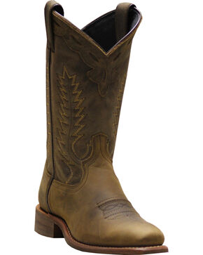 Abilene Women's Brown Western Cowgirl Boots - Square Toe, Brown, hi-res