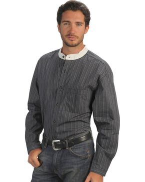 Rangewear by Scully Padre Stripe Long Sleeve Shirt, Black, hi-res