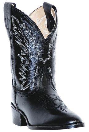 Dan Post Youth Boys' Shane Cowboy Boots - Round Toe, Black, hi-res
