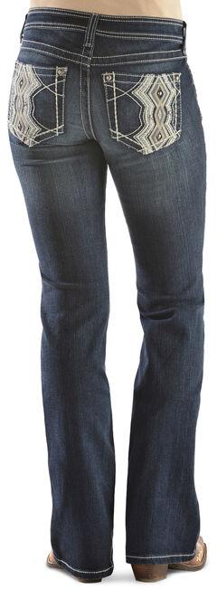 Ariat Women's Turquoise High Kicks White Bootcut Jeans, , hi-res
