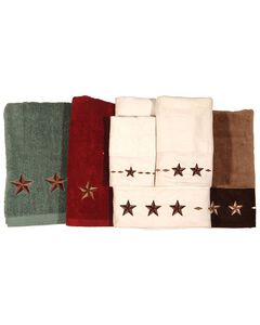HiEnd Accents Three-Piece Embroidered Star Bath Towel Set - Turquoise, , hi-res