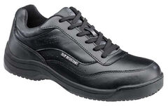 SkidBuster Women's Black Lace-Up Water Resistant Work Shoes, , hi-res
