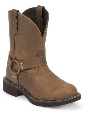 Justin Gypsy Apache Harness Cowgirl Boots - Round Toe, Bay Apache, hi-res