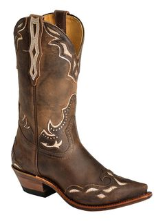 Boulet Iridescent Inlay Cowgirl Boots - Snip Toe, , hi-res