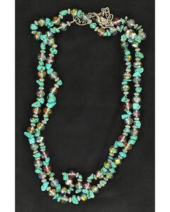 Multi Stone Double Strand Necklace, , hi-res