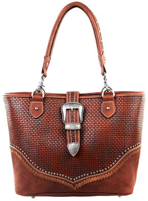 Montana West Trinity Ranch Buckle Design Concealed Handgun Collection Handbag, Brown, hi-res