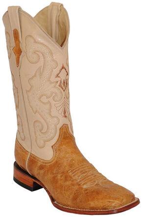 Ferrini Antique Saddle Cowhide Western Boots - Square Toe , Antique Saddle, hi-res