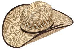 Twister 10X Shantung Bound Edge Straw Cowboy Hat, , hi-res