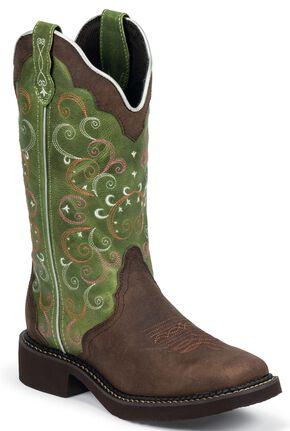 Justin Gypsy Walnut Cowgirl Boots - Square Toe, Walnut, hi-res