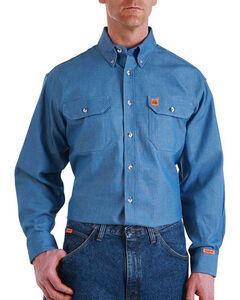 Wrangler Men's Flame Resistant Long Sleeve Work Shirt - Tall, , hi-res