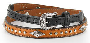 Cody James Leather Diamond and Stud Concho Hat Band, Black, hi-res
