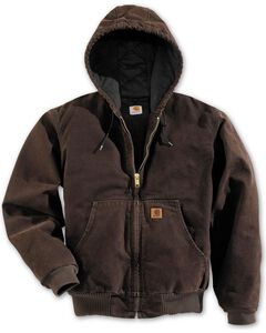 Carhartt Flannel Lined Sandstone Work Jacket, , hi-res