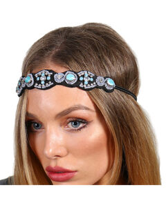 Shyanne® Women's Turquoise Beaded Headband, Turquoise, hi-res